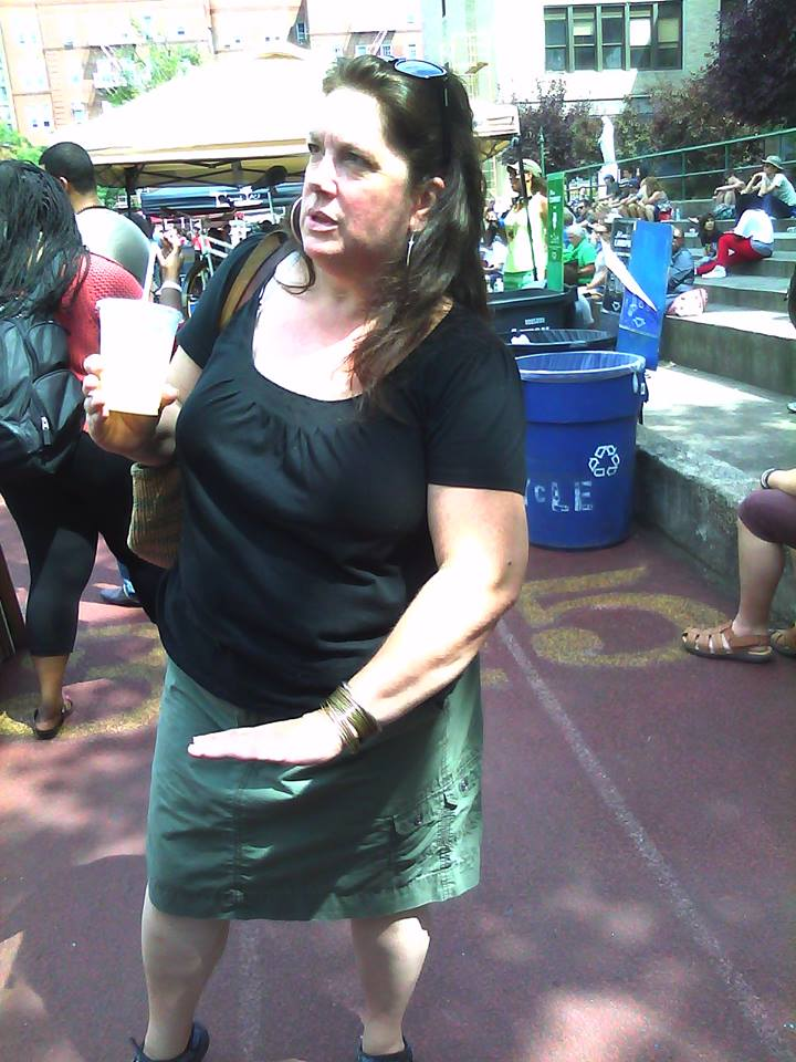 Me at the Brooklyn Flea Market a couple years ago, before I lost the use of my left arm and leg.